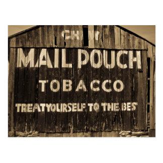 Chew Mail Pouch Tobacco Barn Postcard