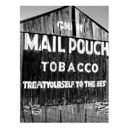Chew Mail Pouch Tobacco Barn Post Card