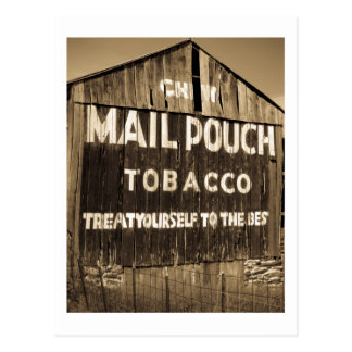 Chew Mail Pouch Tobacco Barn Postcard