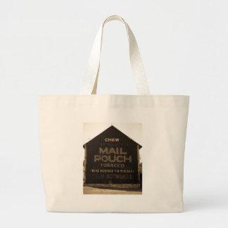 Chew Mail Pouch Tobacco Barn - Sepia Finish Tote Bags