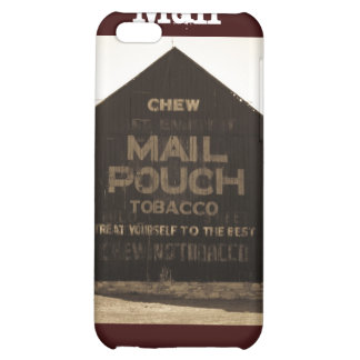 Chew Mail Pouch Tobacco Barn - Sepia Finish iPhone 5C Cases