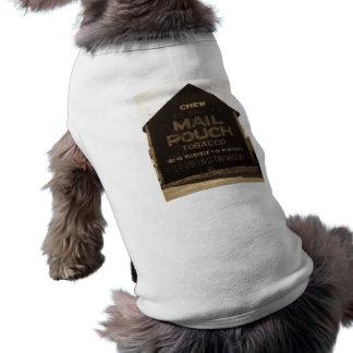 Chew Mail Pouch Tobacco Barn - Sepia Finish Sleeveless Dog Shirt