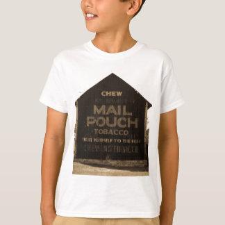 Chew Mail Pouch Tobacco Barn Sepia Finish Tee Shirt
