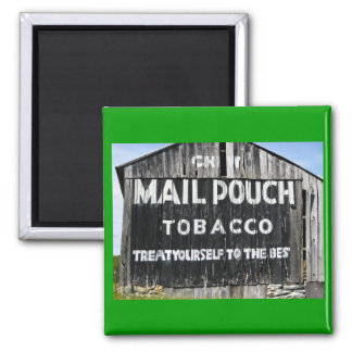 Chew Mail Pouch Tobacco Barn Square Magnet