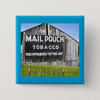 Chew Mail Pouch Tobacco, Old Barn 15 Cm Square Badge