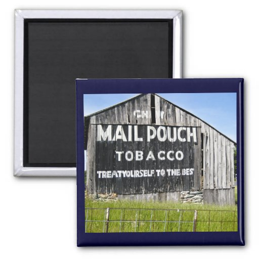 Chew Mail Pouch Tobacco, Old Barn Fridge Magnet