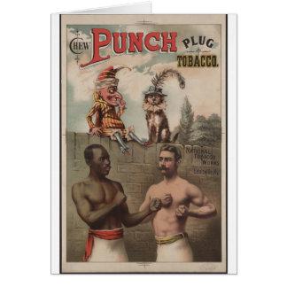Chew Punch Plug Tobacco Greeting Card
