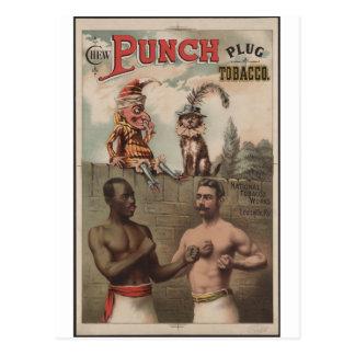 Chew Punch Plug Tobacco Postcard
