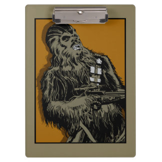Chewbacca Brown Graphic Clipboards
