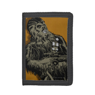 Chewbacca Brown Graphic Trifold Wallets