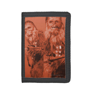 Chewbacca Photograph Collage Trifold Wallets