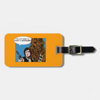 Chewie and Han Comic Bag Tag