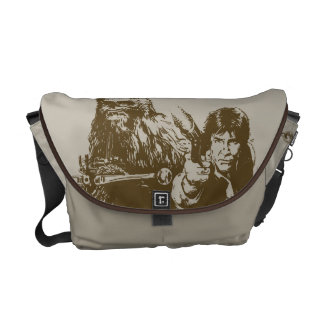 Chewie and Han Silhouette Commuter Bags