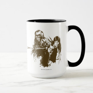 Chewie and Han Silhouette Mug