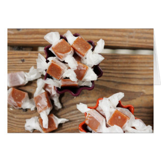 Chewy Autumn Caramels Note Card