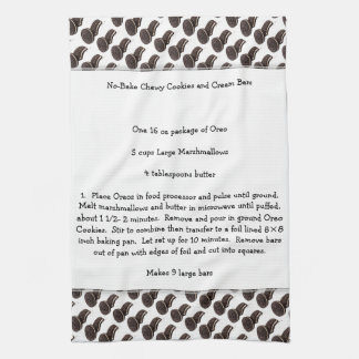 Chewy Cookies & Cream Bars Recipe Tea Towel