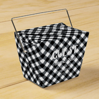 Chex 12-BLACK-WHITE-PARTY FAVOR BOX, take out Party Favour Boxes