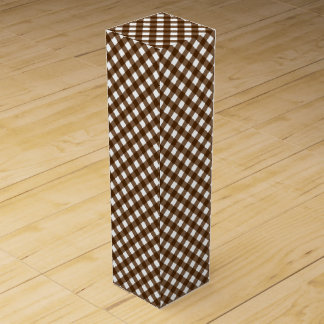 CHEX 14-BROWN-WINE BOTTLE GIFT BOX WINE BOTTLE BOX