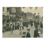 Cheyenne Frontier Days parade. Postcard