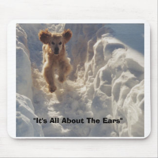 "cheyenne in snow, ""It's All About The Ears"" Mouse Mat"