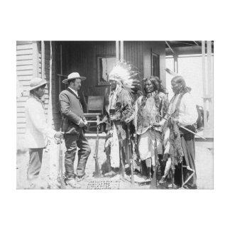 Cheyenne Men Converse with White Canvas Print