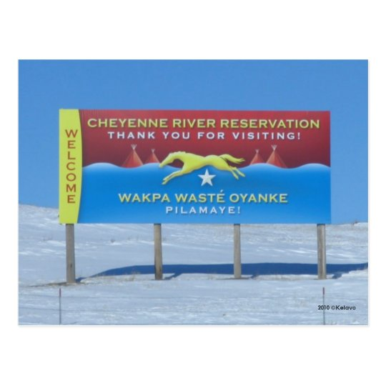 Cheyenne River Reservation Postcard