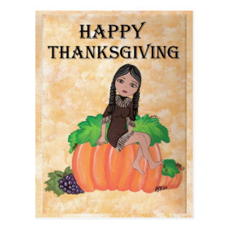 """Cheyenne"" Thanksgiving Quantum Cutie Postcard"