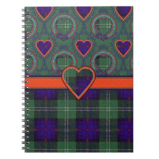 Cheyne clan Plaid Scottish kilt tartan Notebook