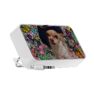 Chi Chi in Butterflies - Chihuahua Puppy in Hat Mini Speakers