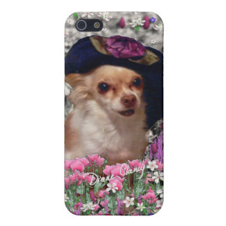 Chi Chi in Flowers - Chihuahua Puppy in Cute Hat iPhone 5/5S Cases