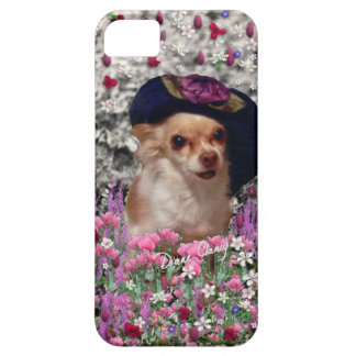 Chi Chi in Flowers  - Chihuahua Puppy in Cute Hat iPhone 5 Cover