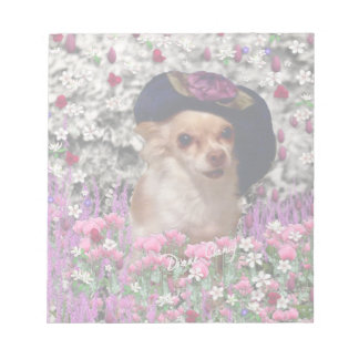 Chi Chi in Flowers - Chihuahua Puppy in Cute Hat Note Pads