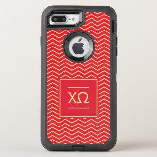 Chi Omega | Chevron Pattern OtterBox Defender iPhone 8 Plus/7 Plus Case
