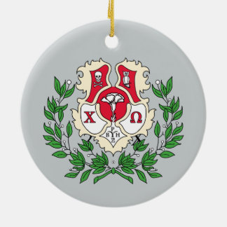 Chi Omega Crest Christmas Ornament