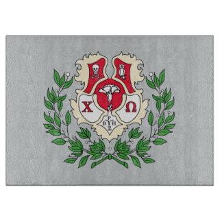 Chi Omega Crest Cutting Board