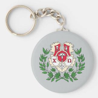 Chi Omega Crest Key Ring