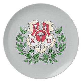 Chi Omega Crest Plate