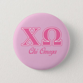 Chi Omega Pink Letters 6 Cm Round Badge