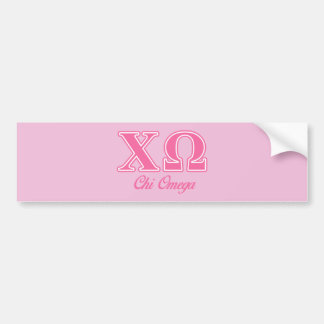 Chi Omega Pink Letters Bumper Sticker