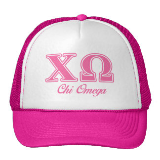 Chi Omega Pink Letters Cap