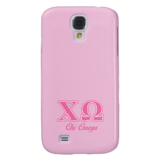 Chi Omega Pink Letters Galaxy S4 Case