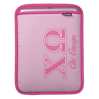Chi Omega Pink Letters iPad Sleeve