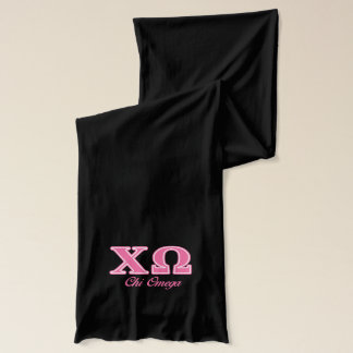 Chi Omega Pink Letters Scarf