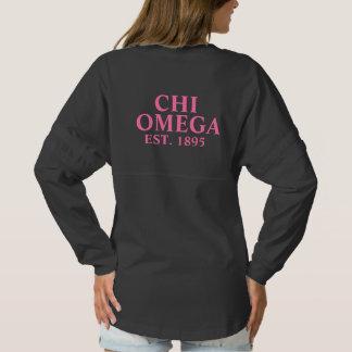 Chi Omega Pink Letters Spirit Jersey