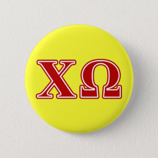Chi Omega Red Letters 6 Cm Round Badge