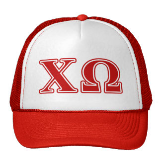 Chi Omega Red Letters Cap