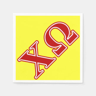 Chi Omega Red Letters Disposable Napkins