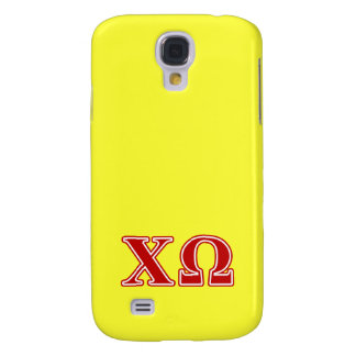 Chi Omega Red Letters Galaxy S4 Case