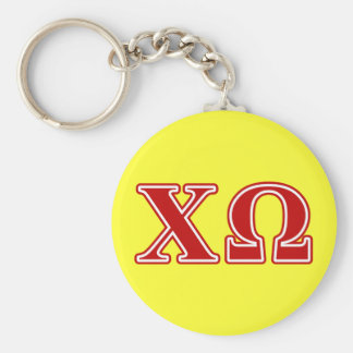 Chi Omega Red Letters Key Ring