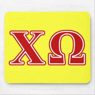 Chi Omega Red Letters Mouse Mat